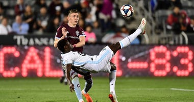 Abu Danladi makes a play for Minnesota United