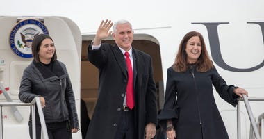 Vice President Pence and family