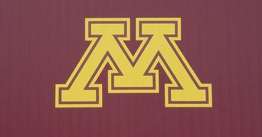 Gopher M on scoreboard