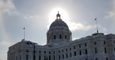 Capitol in the winter time