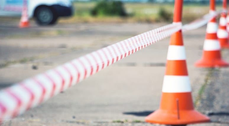 Stock image of cone on road