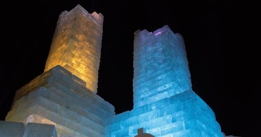 Ice castle at the winter carnival
