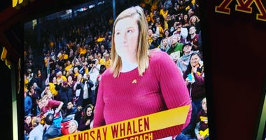 Lindsay Whalen coaching the Gophers
