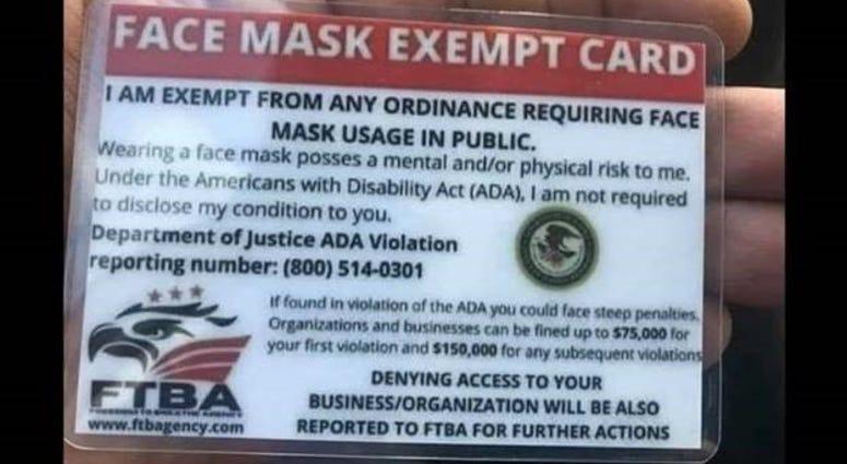 mask card