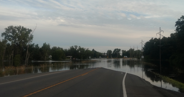 Roads are flooded in Mora