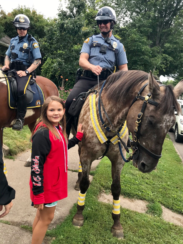 St. Paul police horses and kids