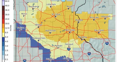 Metro snow map