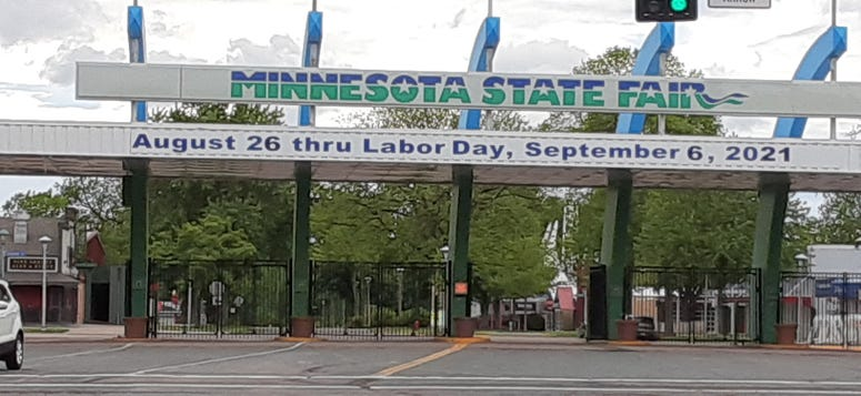 state fair sign changed