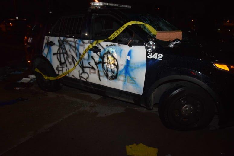 Destroyed Police care passenger side