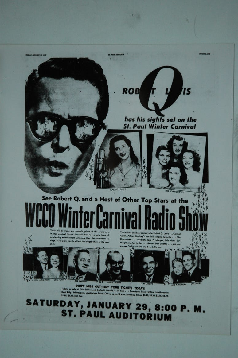 Old WCCO Winter Carnival Flyer