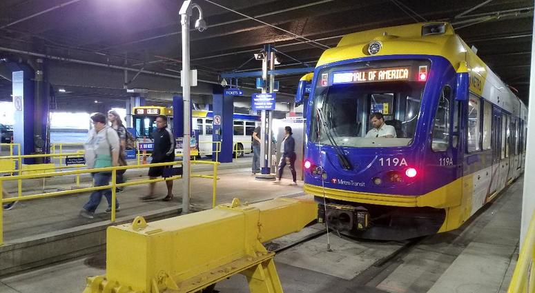Mall of America trains and buses
