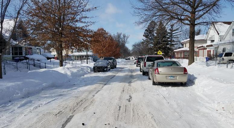 St. Paul streets and snow