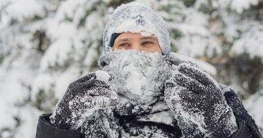 Winter Storm Watch Stock Photo