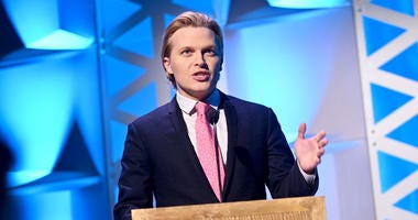 Ronan Farrow speaks onstage at the 78th Annual Peabody Awards