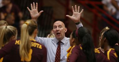 Hugh McCutcheon coaches the Gophers