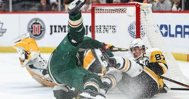 Koivu and Crosby hit the ice