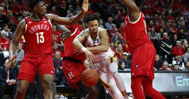 Amir Coffey on the road at Rutgers