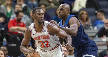 Anthony Tolliver on defense for the Wolves