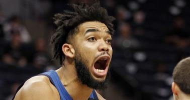 Karl-Anthony Towns is upset