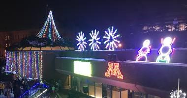 The CSE Winter Light Show 2019 returned Thursday, December 5 on the University of Minnesota campus.