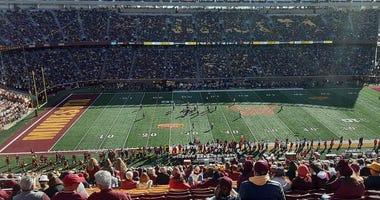Gopher football empty seats