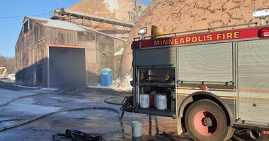fire site in north minneapolis