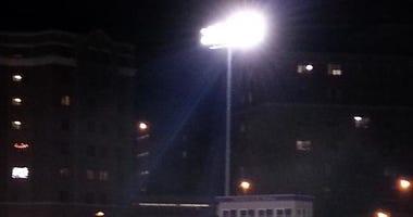 Lights at stadium