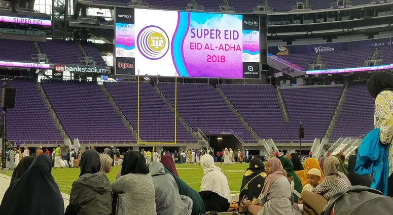Muslims at Super Eid