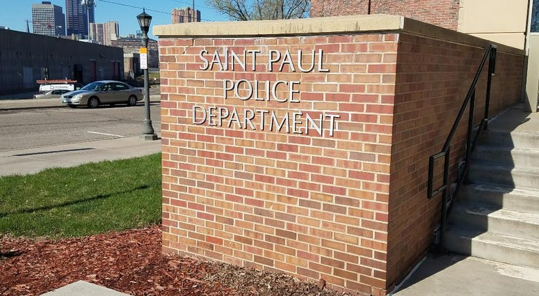 Saint Paul police department sign