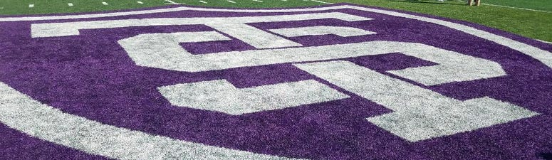 Logo at midfield