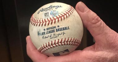 Ball used by Twins to turn a triple play