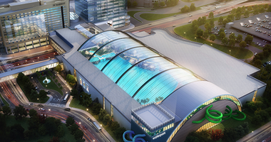 Rendering of a proposed $250 million water park at the Mall of America