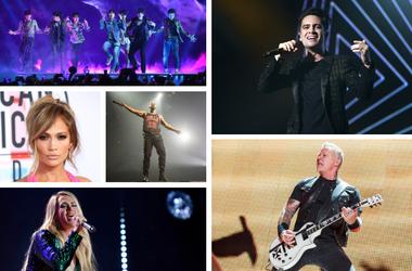 BTS, J Lo, Drake, Carrie Underwood, Panic! At The Disco, Metallica