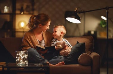 parent at home with child