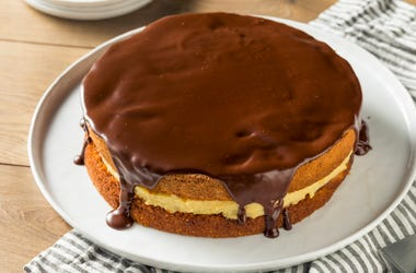 Boston Cream Pie on a Plate