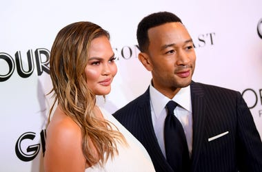 Chrissy Teigen and John Legend attend the 2018 Glamour Women Of The Year Awards: Women Rise on November 12, 2018 in New York City.