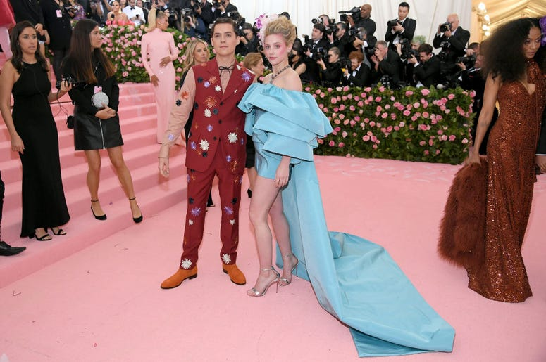 Cole Sprouse and Lily Reinhart attend The 2019 Met Gala