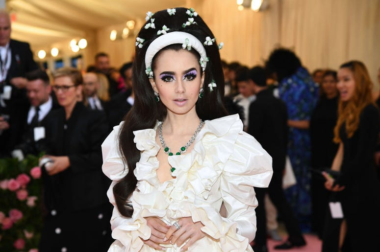 Lily Collins attends The 2019 Met Gala