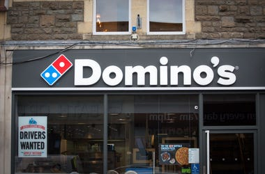 BATH, ENGLAND - FEBRUARY 19: A branch of Domino's pizza takeaway is pictured on February 19, 2018 in Bath, England. The number of takeaway restaurants has increased significantly in the last few years and this has raised concerns that this can lead to ove
