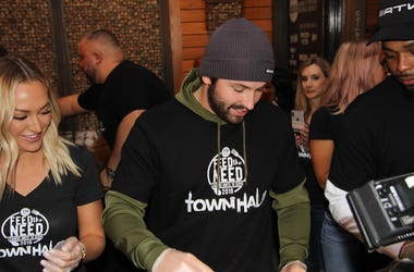 Cleveland Browns quarterback Baker Mayfield and his wife, Emily, are donating $50,000 to the Greater Cleveland Food Bank