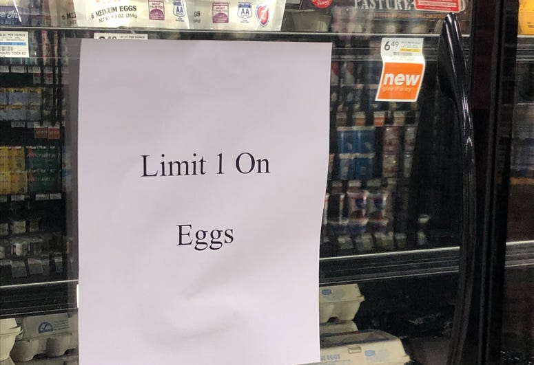 Egg Purchase Limit Amidst Pandemic