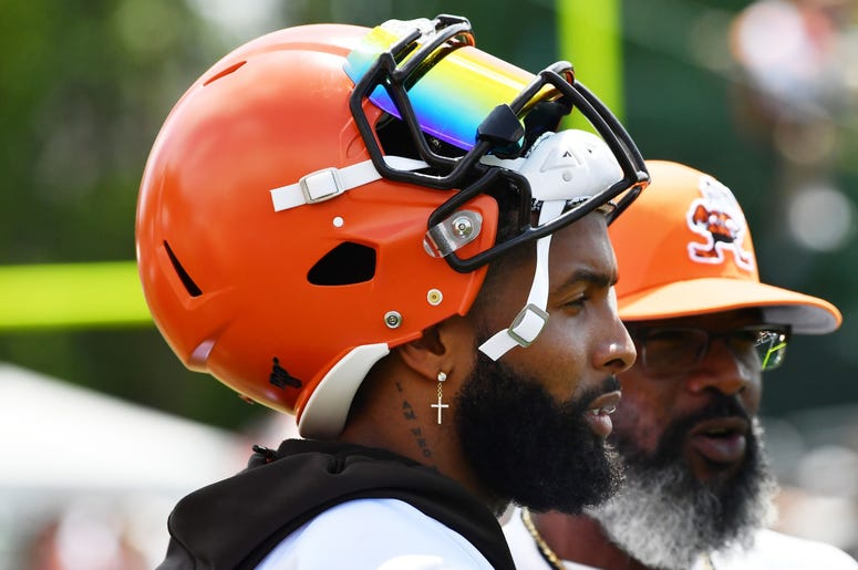 Cleveland Browns wide receiver Odell Beckham (13) during training camp at the Cleveland Browns Training Complex.