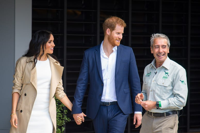 The Duke and Duchess of Sussex during a visit to Taronga Zoo in Sydney on the first day of the Royal couple's visit to Australia.