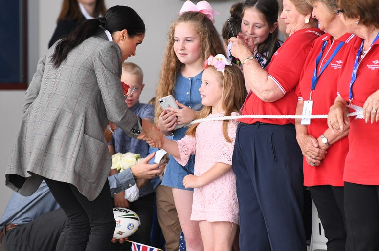 Prince Harry Duke of Sussex and Meghan Duchess of Sussex arrive at Dubbo Airport and visit the Royal Flying Doctor Service, New South Wales, Australia.