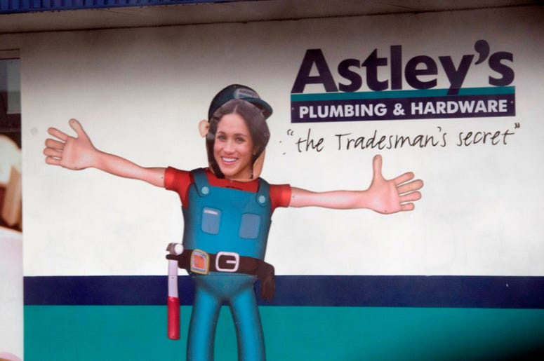 A local hardware store in Dubbo before the Duke and Duchess of Sussex visit Clontarf Foundation and Girls Academy, on the second day of the Royal couple's visit to Australia.