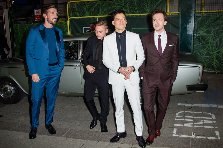 Gwilym Lee, Ben Hardy, Rami Malek and Joe Mazzello attending the Bohemian Rhapsody World Premiere held at the the SSE Arena, Wembley, London.