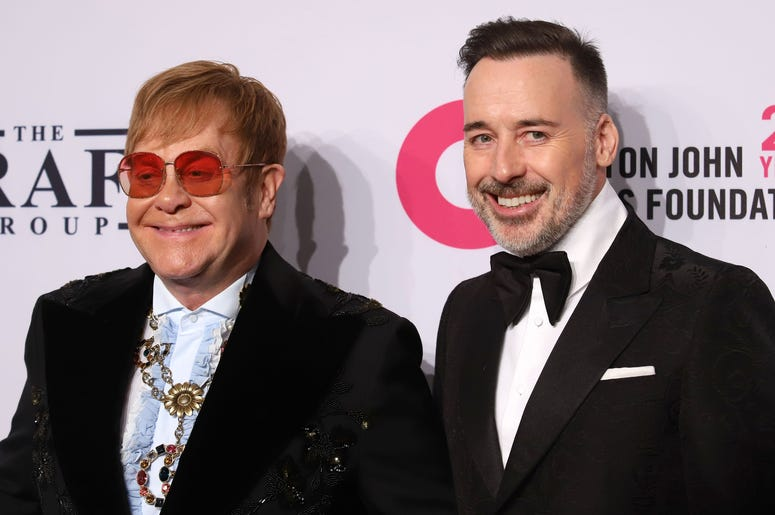 Elton John and David Furnish attend the 17th Annual An Enduring Vision gala at Cipriani in New York.
