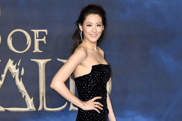 Claudia Kim attending the Fantastic Beasts: The Crimes of Grindelwald UK premiere held at Leicester Square, London.