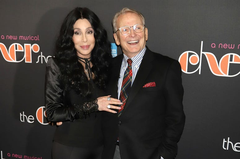 """Cher and Bob Mackie attend the opening night of """"The Cher Show"""" on Broadway at the Neil Simon Theatre in New York."""