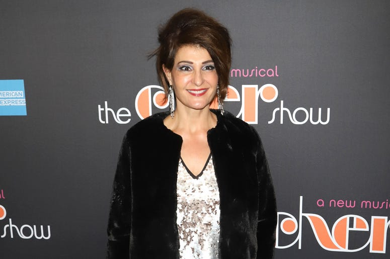 """Nia Vardalos attends the opening night of """"The Cher Show"""" on Broadway at the Neil Simon Theatre in New York."""